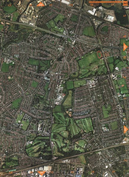 Associate Product GRENFORD. Perivale Golf Course and Athletics Stadium Dormer's Wells 2000 map