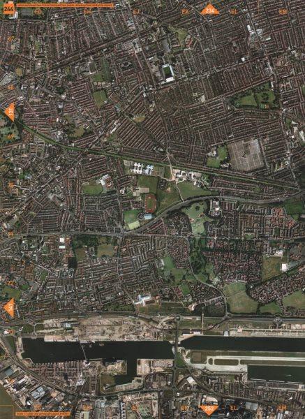 Associate Product W HAM E13 E16 E6. Upton Park W Ham Fc E Ham Royal Docks City Arpt.  2000 map