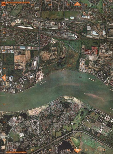 Associate Product SE28 SE2. Barking and Dagenham Industrial Estates Thamesmead 2000 old map