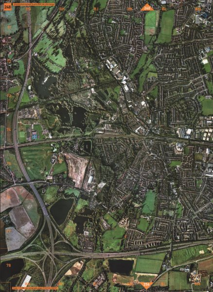 Associate Product WEST DRAYTON. Yiewsley Thorney West Drayton M25-M4 Interchange 2000 old map