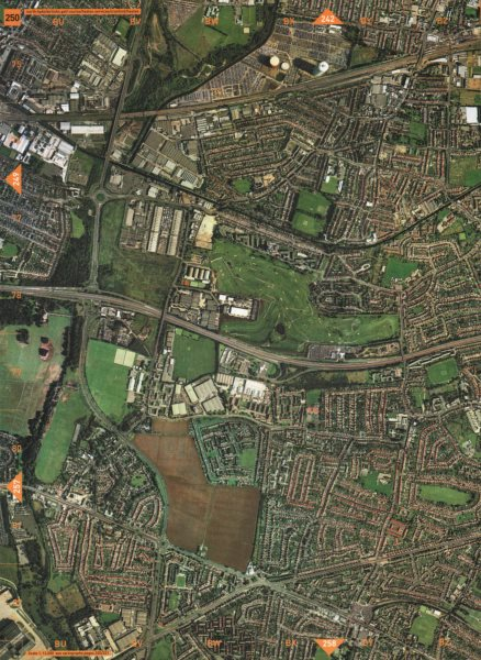 HESTON. North Hyde Airlinks Golf Course Heston Services Cranford Heston 2000 map