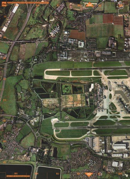 Associate Product HEATHROW AIRPORT. Harmondsworth Sewage Works Stanwell Moor 2000 old map