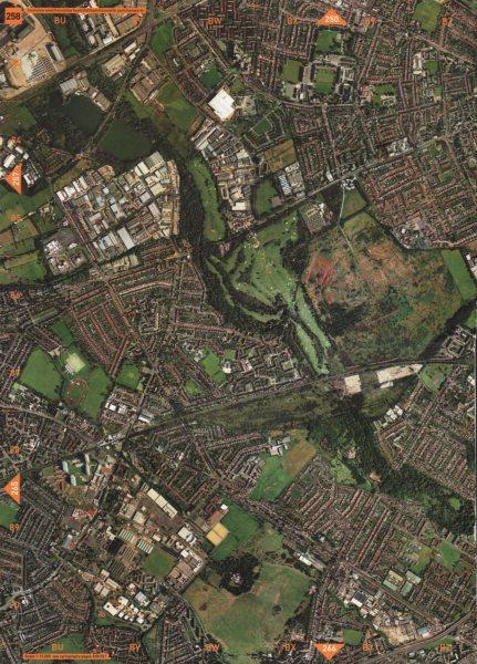 Associate Product FELTHAM. Hounslow West Hounslow Heath Hanworth Park Hanworth 2000 old map