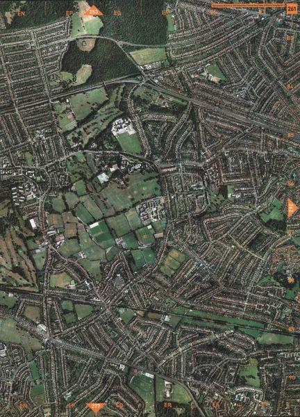Associate Product AVERY HILL SE9. Falconwood Blackfen Lamorbey New Eltham Longlands 2000 old map
