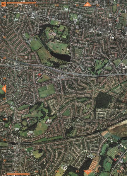 Associate Product BEXLEY. Welling Bexley Danson Park Bexleyheath Sidcup Golf Course 2000 old map