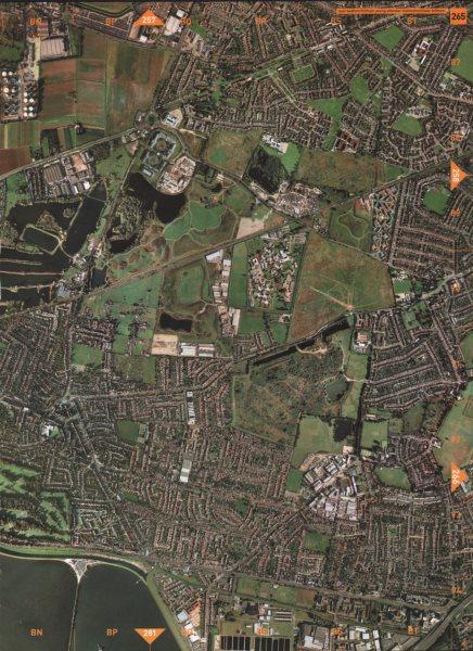 Associate Product ASHFORD. East Bedfont Feltham Young Offender Institution Lower Feltham 2000 map