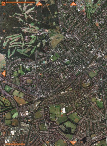 Associate Product WIMBLEDON SW20 SW19. Common Copse Hill Cottenham Park Raynes Park 2000 old map
