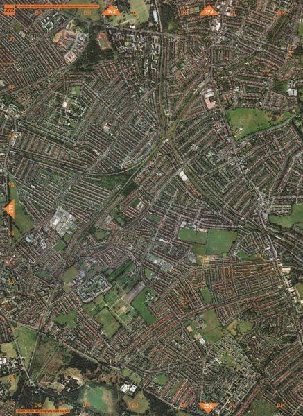 Associate Product STREATHAM SW16. Streatham Park Streatham Common Streatham Vale Mitcham 2000 map