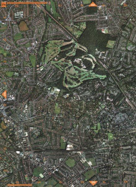 Associate Product BROMLEY SE12 SE9. Downham Elmstead Wood Sundridge Park Widmore Bickley 2000 map