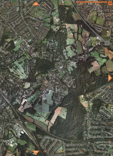 Associate Product CHISLEHURST SE9. Chislehurst Common Park Wood Petts Wood 2000 old vintage map