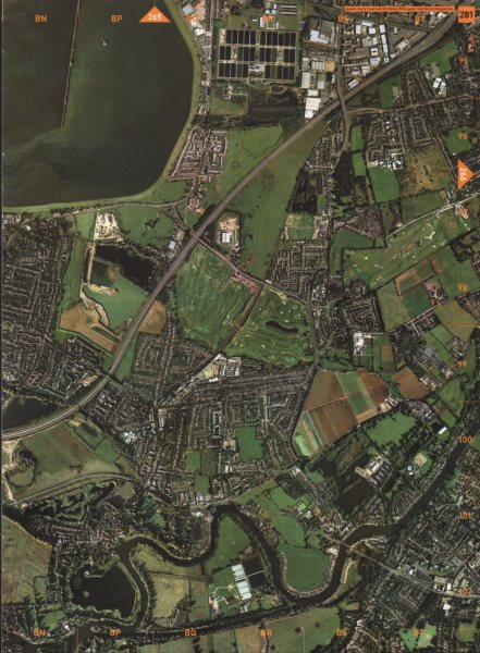 Associate Product SHEPPERTON. Queen Mary Reservoir Littleton Upper Halliford M3 2000 old map