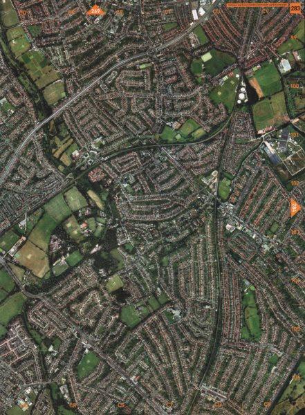 Associate Product MOTSPUR PARK. Old Malden Worcester Park Stoneleigh 2000 vintage map chart