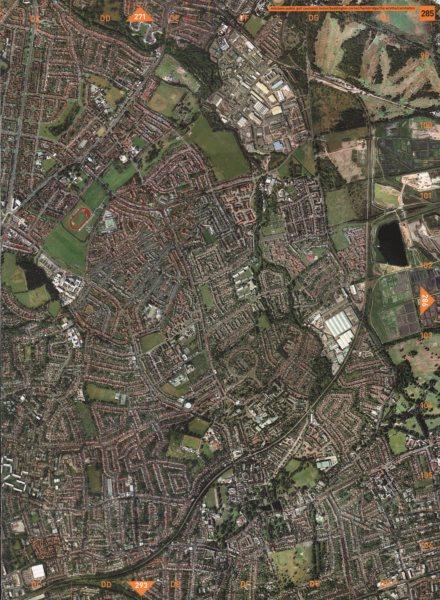 Associate Product CARSHALTON. Mitcham Golf Course St Helier Beddington Hackbridge Wrythe 2000 map
