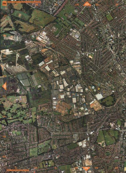 Associate Product BEDDINGTON. Mitcham Common Croydon Cmtry Broad Green Beddington Waddon 2000 map