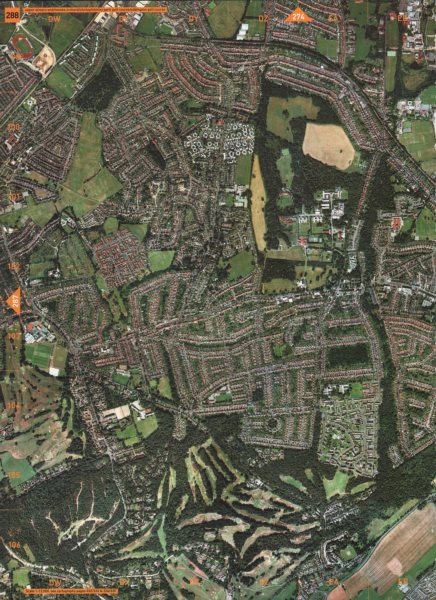 Associate Product SHIRLEY. Upper Elmers End Monks Orchard Park Golf Course Addington 2000 map