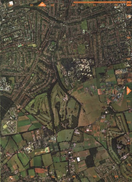 Associate Product SUTTON.Carshalton Beeches/On The Hill.Oaks Golf Course Little Woodcote 2000 map