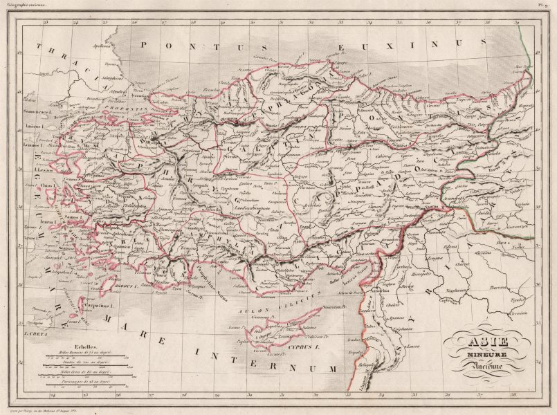 Associate Product ANCIENT TURKEY. Asie Mineure ancienne Asia Minor Anatolia. MALTE-BRUN c1846 map