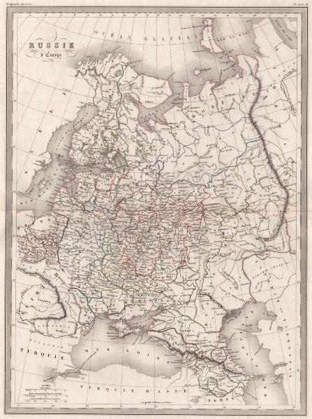 Associate Product RUSSIA IN EUROPE Russie d'Europe. Original outline colour. MALTE-BRUN c1846 map