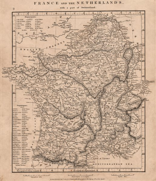 Associate Product FRANCE & BENELUX. Netherlands, with a part of Switzerland. ARROWSMITH 1828 map