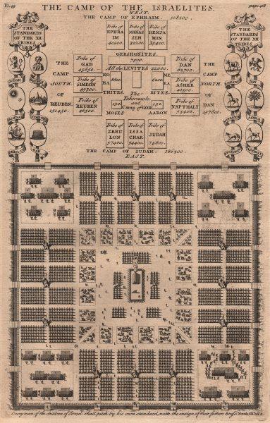 BIBLE. Exodus. Camp of the Israelites. Camps of Ephraim Judah Dan Reuben 1752