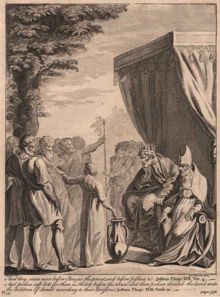 Associate Product BIBLE. Joshua 17.4/18.10 Joshua divided the land unto children of Israel 1752