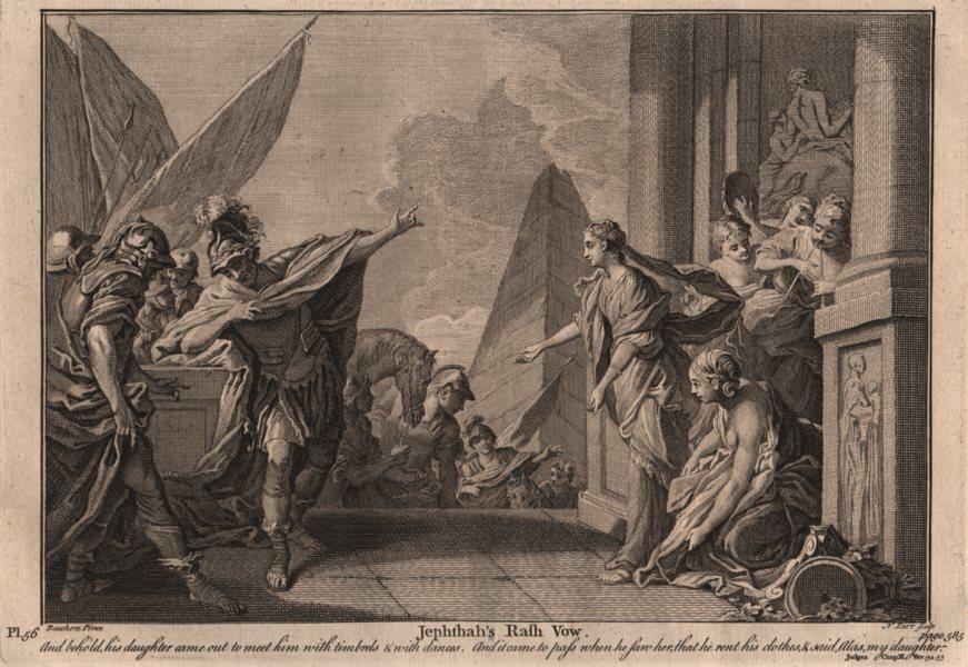 Associate Product BIBLE. Judges 11.34-35 Jephthah's rash vow 1752 old antique print picture