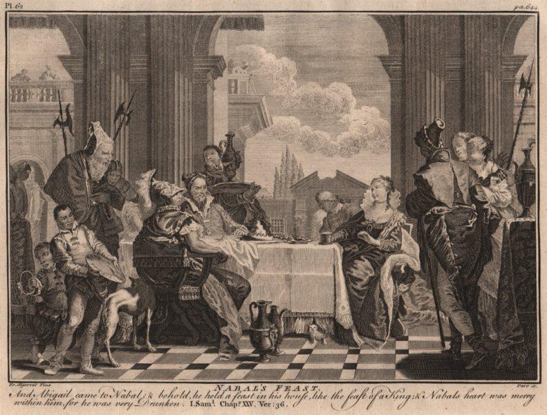 Associate Product BIBLE. 1 samuel 25.36 Nabals heart was merry, for he was very drunken 1752