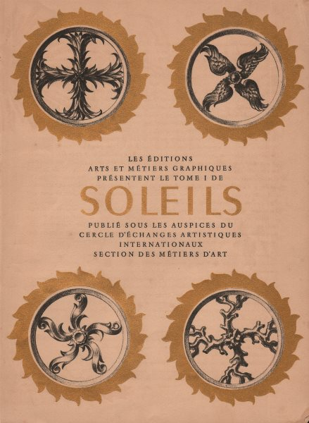 Associate Product SOLEILS TITLE PAGE. Gold leaf paint. Éditions Arts et Métiers Graphiques 1947