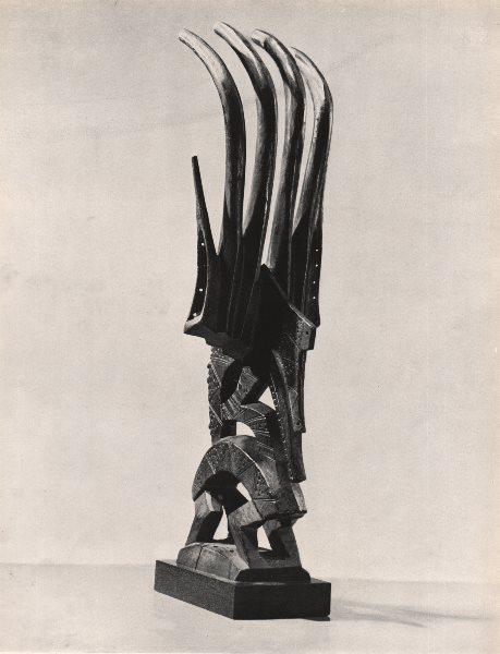 Associate Product TRIBAL. Male antelope horns, Bougouni region. French Sudan. Mali 1947 print