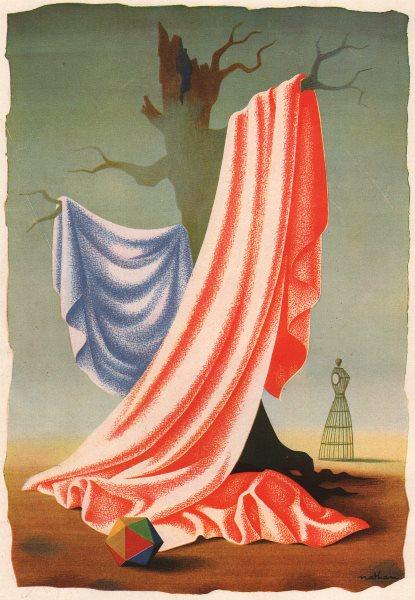 ADVERTS. Lesur. Fashion fabrics textiles 1947 old vintage print picture