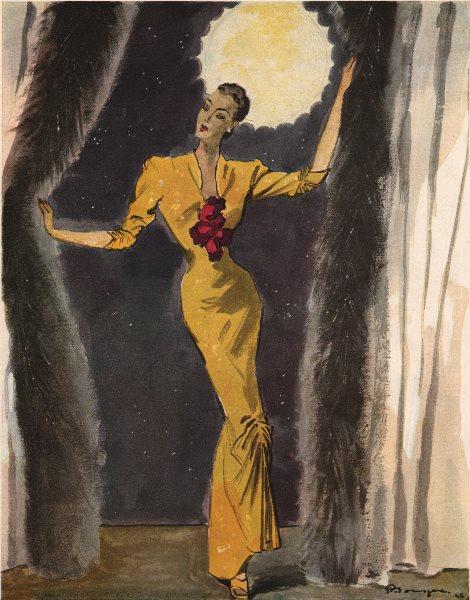 Associate Product FASHION ADVERT. Requête création de Worth 1947 old vintage print picture