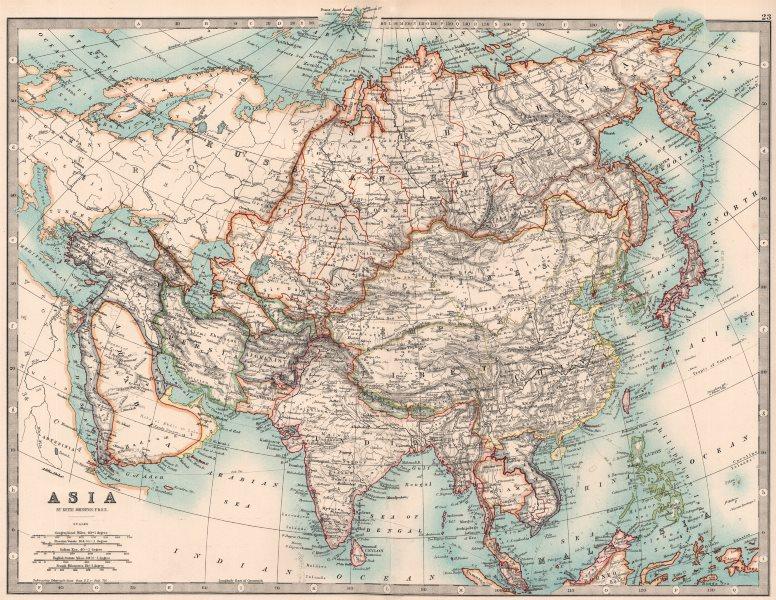 Associate Product ASIA.Korea a Japanese Protectorate.Japanese Formosa Taiwan.JOHNSTON 1906 map