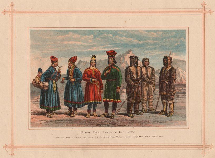 Associate Product MONGOL RACE. Swedish Norwegian Lapps Esquimaux Victoria Land Cape Barrow 1882