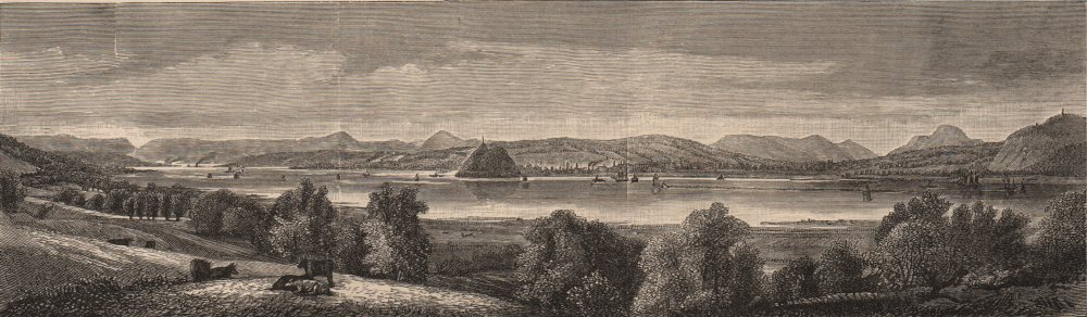 Associate Product SCOTLAND. The Clyde as viewed from near Finlayston 1882 old antique print