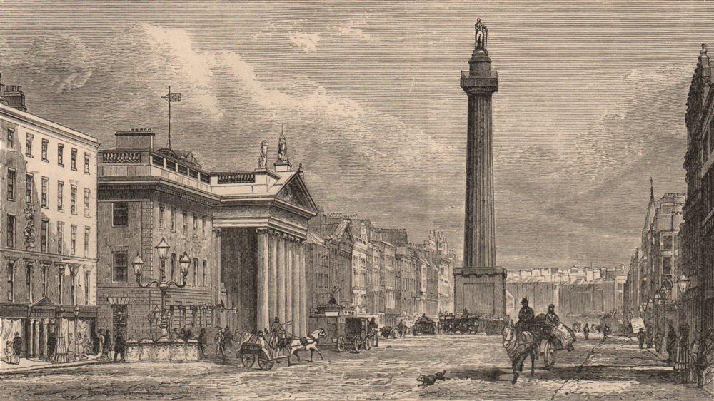 DUBLIN. Sackville Street, Irleland 1882 old antique vintage print picture