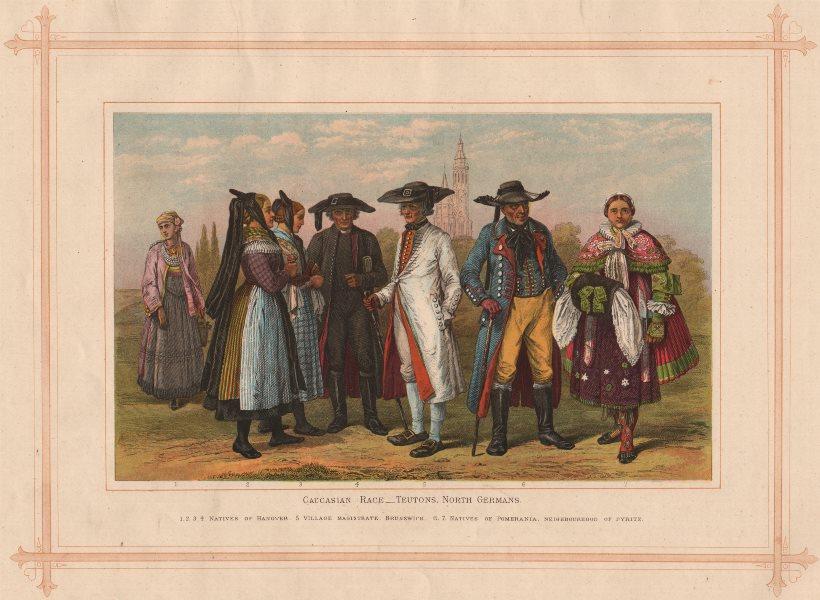 CAUCASIAN RACE. Teutons North Germans. Hanover. Pomerania. Pyritz 1882 print