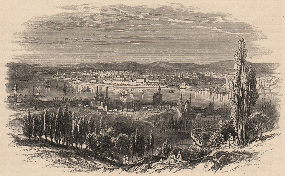 Associate Product CONSTANTINOPLE (ISTANBUL) . View of the city. Turkey 1882 old antique print