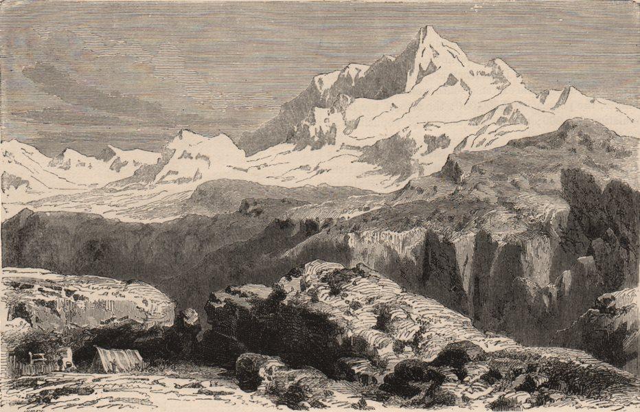 HIMALAYAS.Gaurisankar or Mount Everest the highest mountain on Earth(sic) 1882