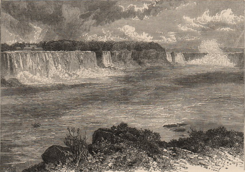 Associate Product NIAGARA FALLS. General view from the Canadian side. Canada 1882 old print
