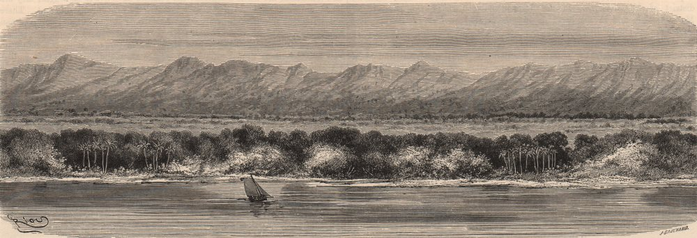 Associate Product BRAZIL. Mountains of Paruacuara, on the left bank of the lower Amazon 1882