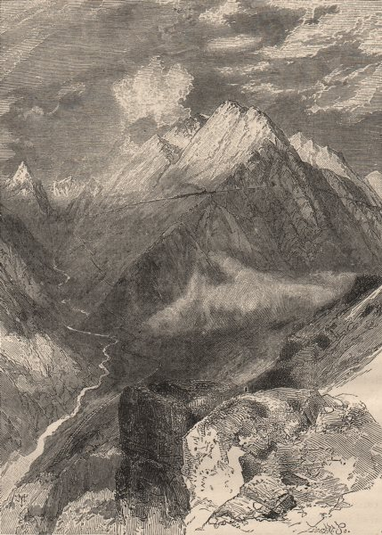 Associate Product PERU. The Chin Chan above junction with the Rímac Rimac. Railway to Oroya 1882