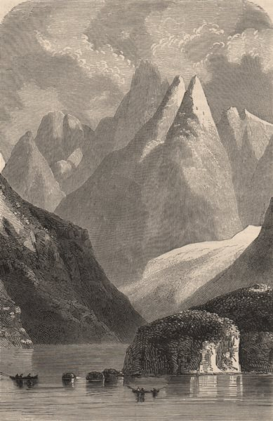 Associate Product TIERRA DEL FUEGO. Conical peaks of Admiralty Strait. Chile 1882 old print