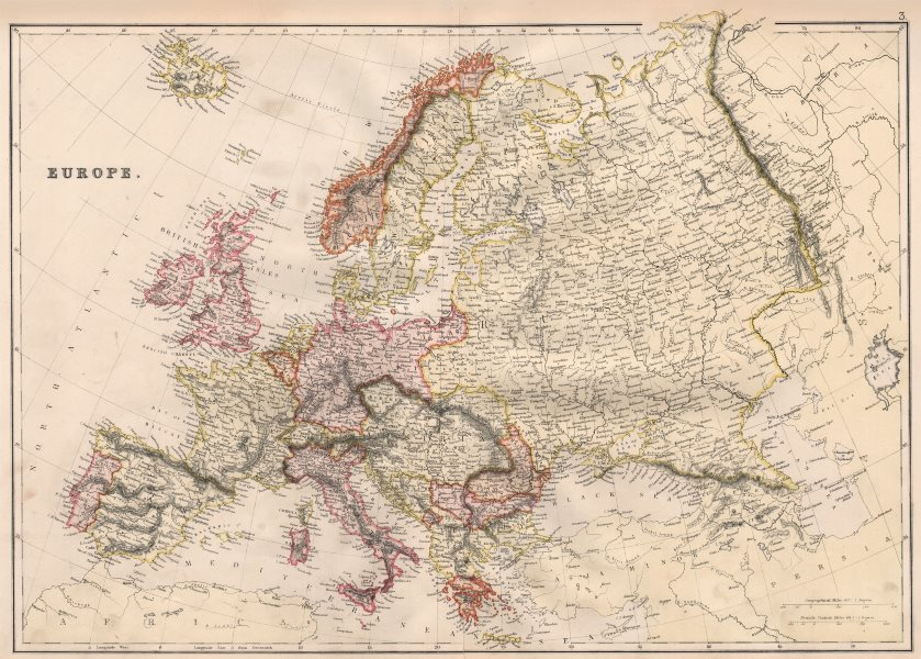Associate Product EUROPE POLITICAL. Russia excludes Georgia. BLACKIE 1882 old antique map chart