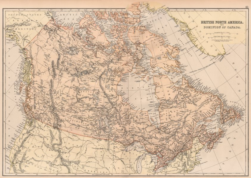 Associate Product CANADA. Br. North America. Planned shipping route Liverpool-Port Nelson 1882 map