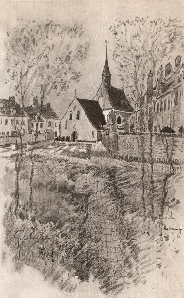 Associate Product DIXMUDE (DIKSMUIDE) . The Beguinage. Belgium 1916 old antique print picture