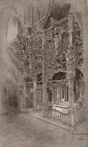 Associate Product DIXMUDE (DIKSMUIDE) . The Great Jube, or Altar Screen. Belgium 1916 old print
