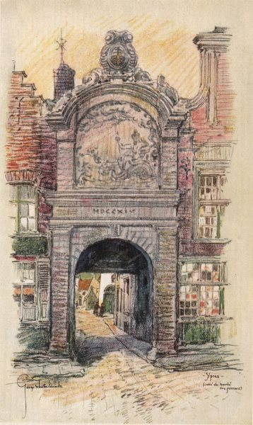 Associate Product VEURNE FURNES. The Fish Market. Ypres. Belgium 1916 old antique print picture