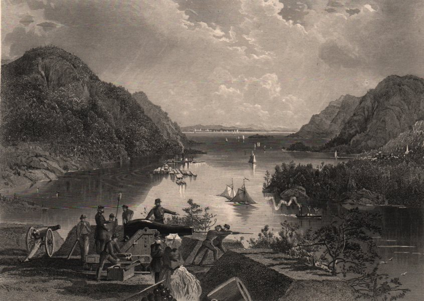 Associate Product NEW YORK STATE. West Point and the Highlands. Cannon. Soldiers. Hudson 1874