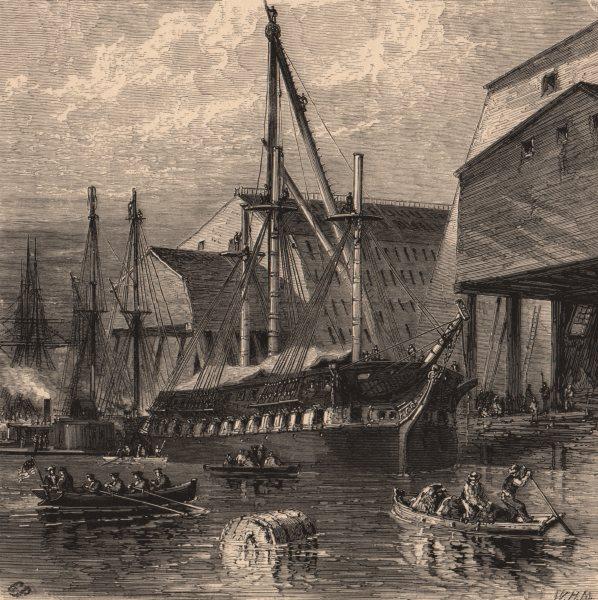 PHILADELPHIA. Navy-Yard. Pennsylvania 1874 old antique vintage print picture