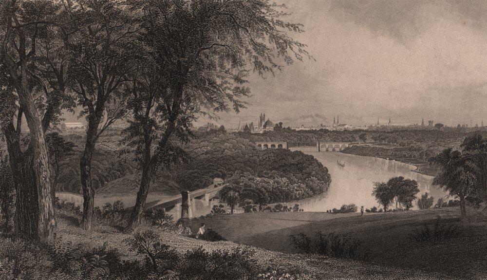 Associate Product PHILADELPHIA. View from Belmont (West Park. ) . Pennsylvania 1874 old print